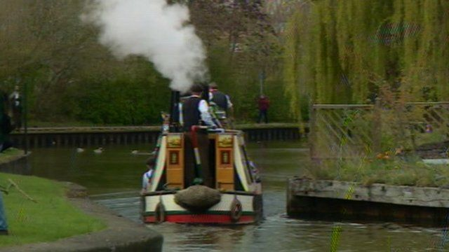 President steam narrowboat