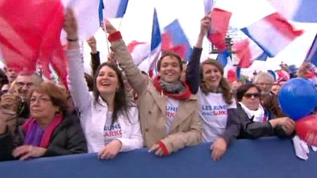 Election rally in France