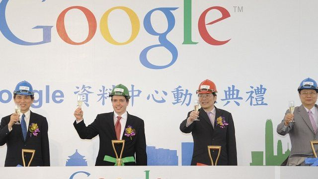 Ground breaking ceremony for a new data centre for Google in central China
