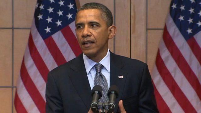 Obama speaks at the US Holocaust Memorial 23 April 2012