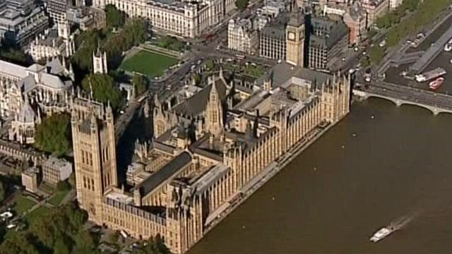 Aerial photo of the Houses of Parliament