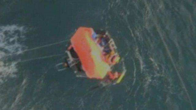 French coastguards rescue