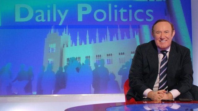 Andrew Neil on set of Daily Politics