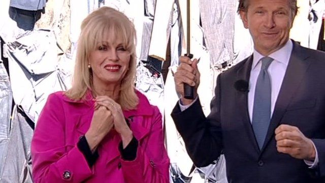 Joanna Lumley and Marc Bolland, Chief Executive of M&S