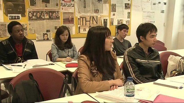 Language school students