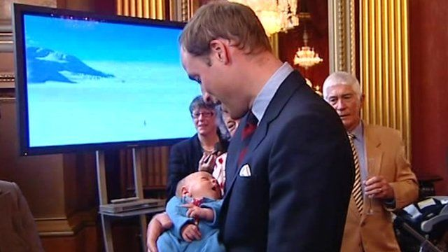 Prince William with baby Hugo