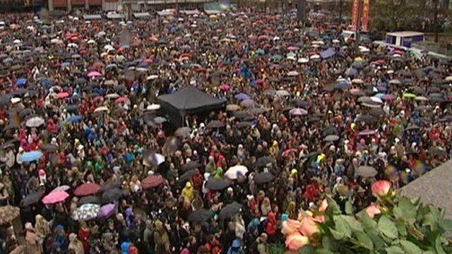 Protesters in Oslo