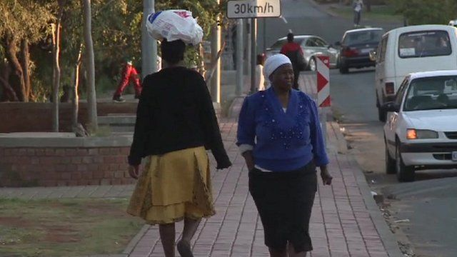 Pedestrians in South Africa