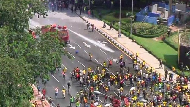 Protesters in Malaysia