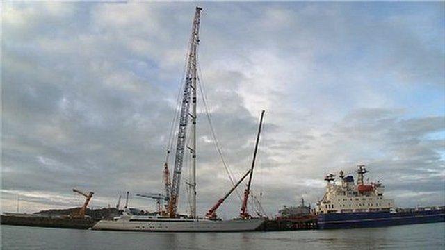 The M5 at Pendennis Shipyard
