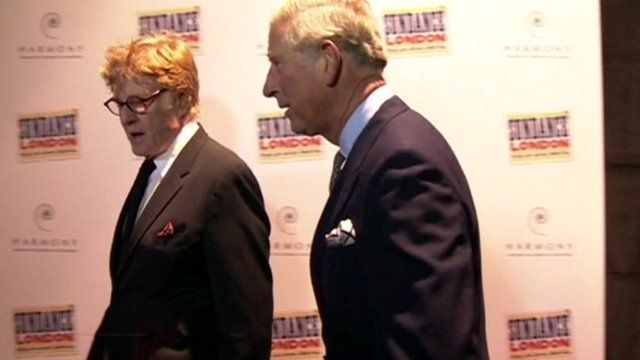 Robert Redford and Prince Charles at Sundance launch