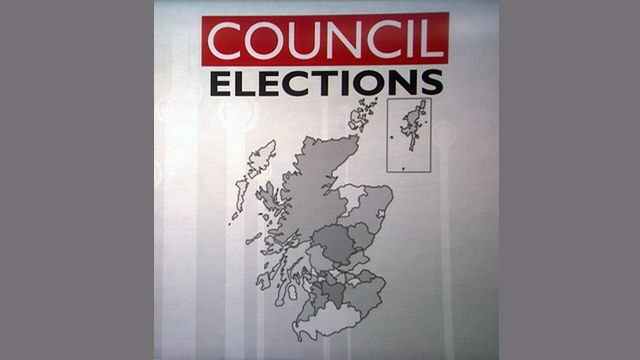 Map of councils in Scotland which had majority independent councillors