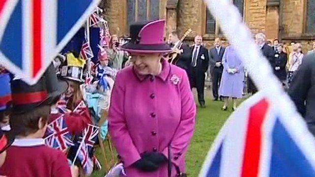 The Queen in Sherborne