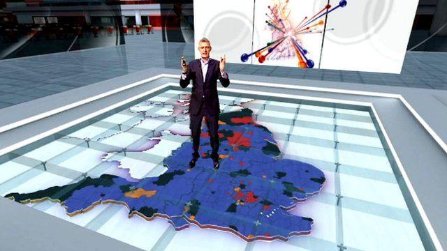 The BBC's Jeremy Vine on set