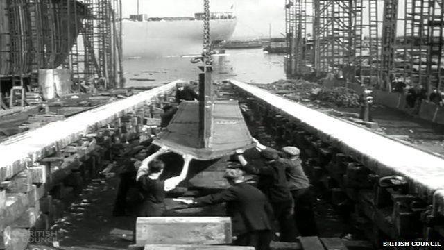 Men working in Burntisland Shipbuilding Company