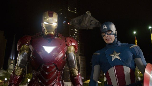Iron Man and Captain America from The Avengers