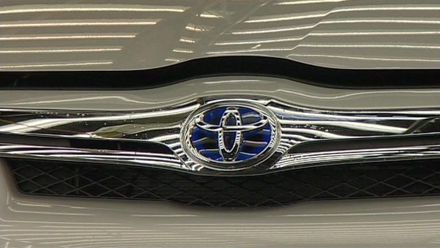 The Toyota badge