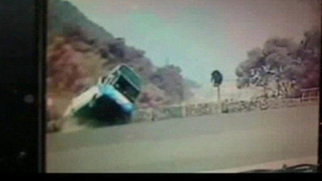 Bus crash in Hualian County, Taiwan