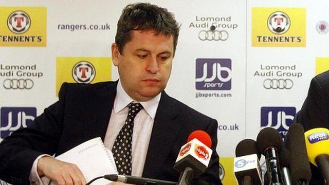 David Whitehouse said the Rangers' takeover bid was still on course