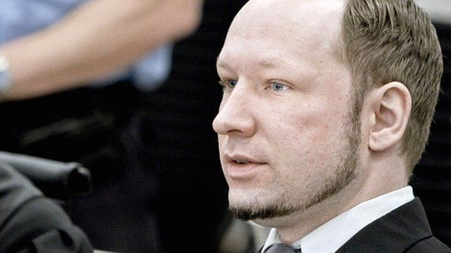 Anders Behring Breivik in court on 9 May