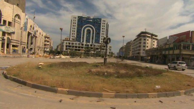 Deserted city of Homs