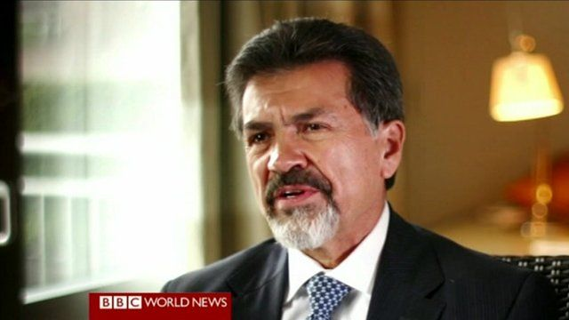 Former Director of the CIA Counterterrorism Center Jose Rodriguez during an interview with the BBC's Peter Taylor