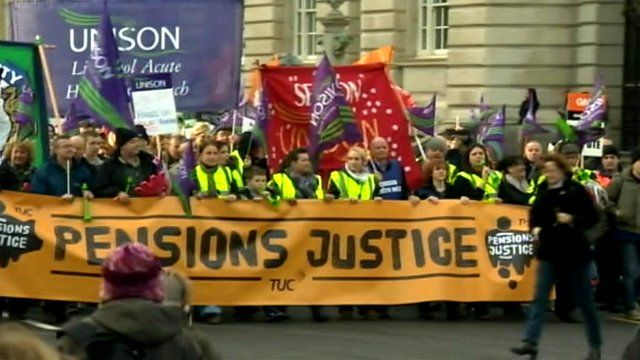 Public sector pay rally in November 2011
