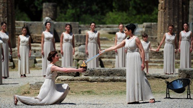 Rehearsal of the Lighting Ceremony Of The Olympic Flame