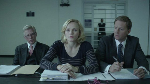 Maxine Peake (centre) in a scene from Silk