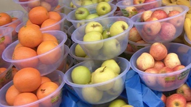 Bowls of fruit