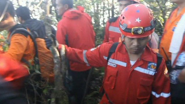Rescue worker in Indonesia
