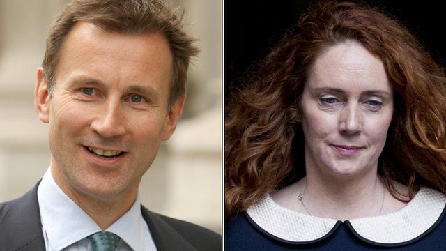 Jeremy Hunt and Rebekah Brooks