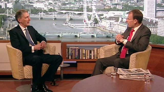 Philip Hammond and Andrew Marr