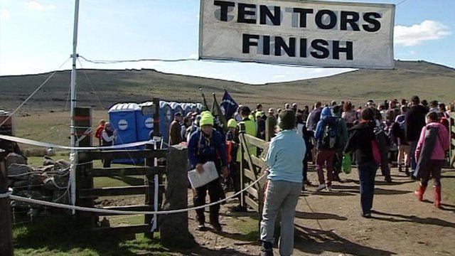 Ten Tors 2012 finish line