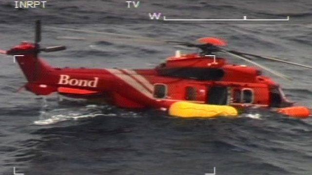 A Bond helicopter, which ditched into the North Sea last week
