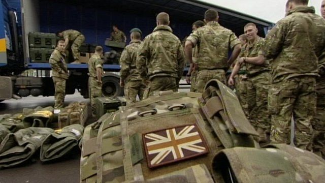 British Army personnel