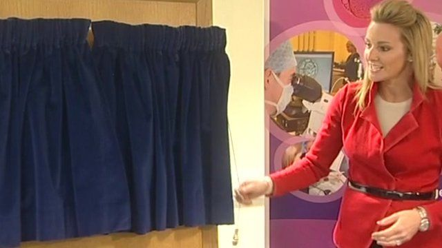 Gabby Logan opening the new NHS fertility centre in Cambridge