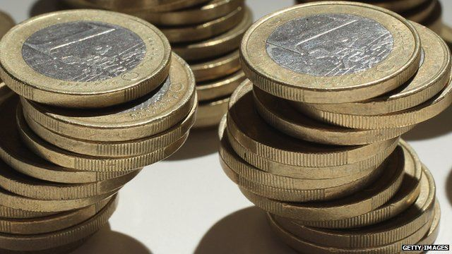 euro coin towers