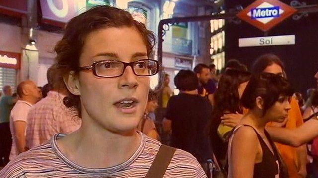 Spanish protester