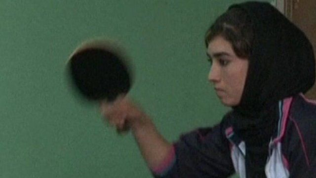 Shaziah plays table tennis for the Afghan national team