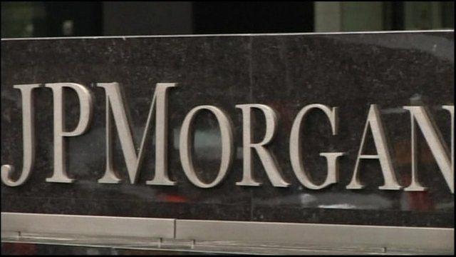 JP Morgan sign in New York