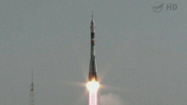 Soyuz Rocket Launch In Kazakhstan Bbc News
