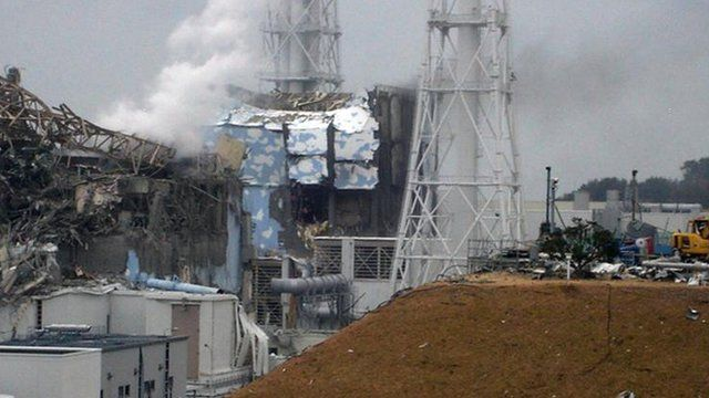The Fukushima nuclear plant several days after the March 11 2011 earthquake