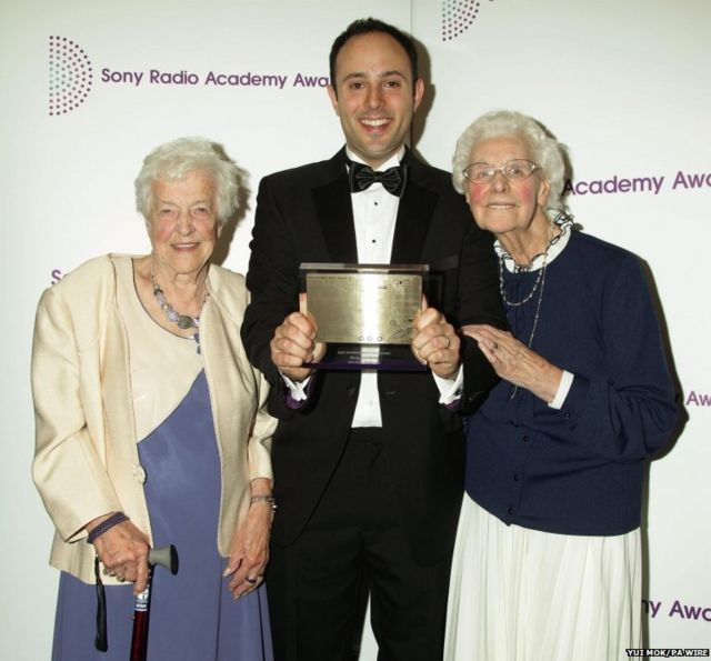 David Reeves with Beryl and Betty