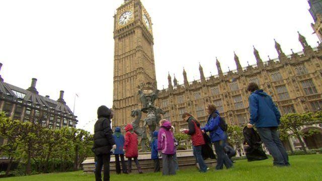 Scouts outside Parliament
