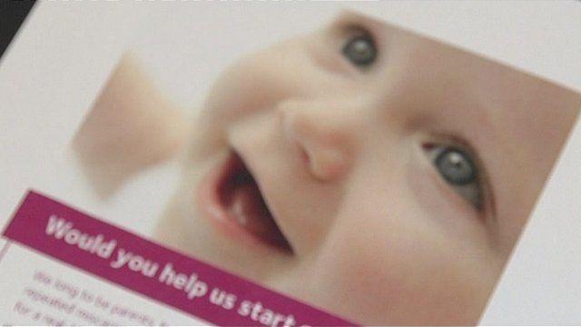 Leaflet asking for egg donor