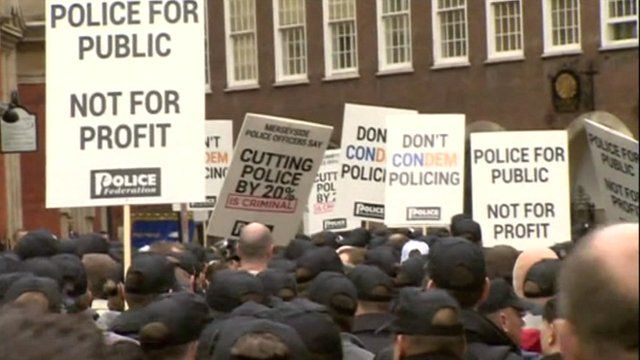 Police protests over cuts
