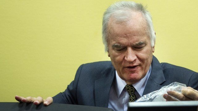 Former Bosnian Serb military leader Ratko Mladic