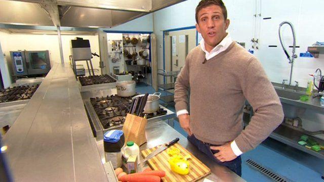 Alex Reid in the kitchen