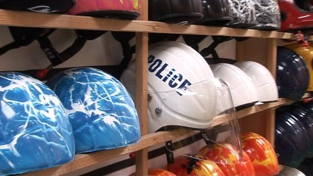 Police helmet for the Olympic Games